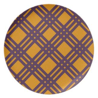 Purple and Orange Lattice Plate
