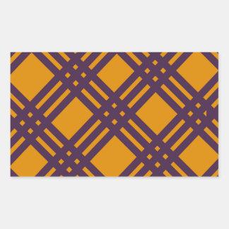 Purple and Orange Lattice Rectangular Sticker
