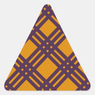 Purple and Orange Lattice Triangle Sticker