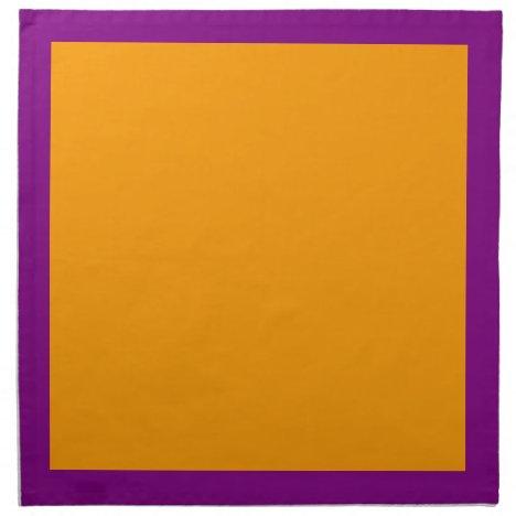 Purple and Orange Napkins