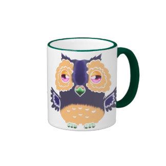 Purple and Orange Owl Mug