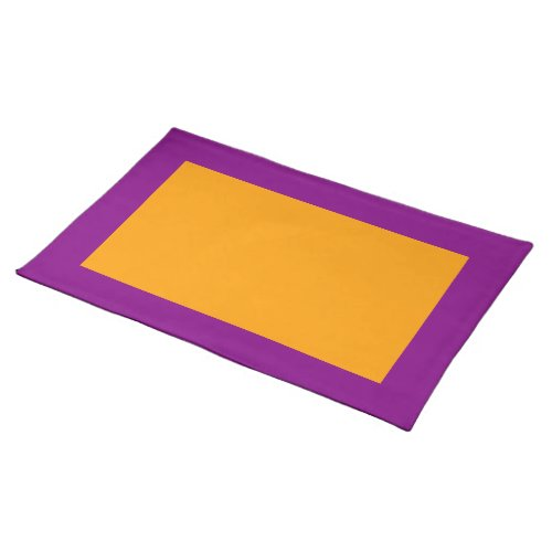 Purple and Orange Placemat