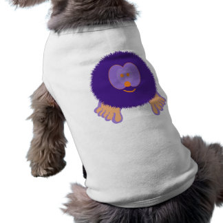 Purple and Orange Pom Pom Pal Dog Tee