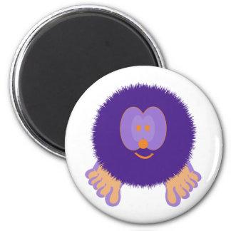 Purple and Orange Pom Pom Pal Magnet