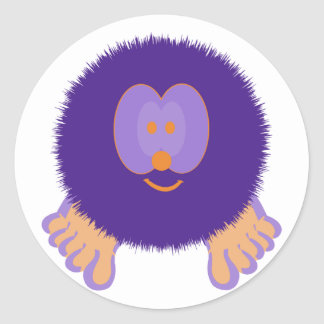 Purple and Orange Pom Pom Pal Stickers