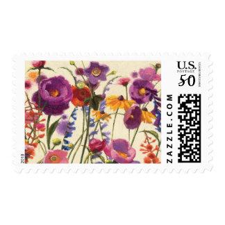 Purple and Orange Poppy Melody Postage