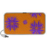 purple and orange portable speaker