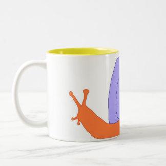 Purple and Orange Snail mug