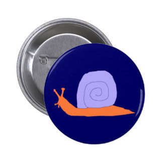 Purple and Orange Snail pin