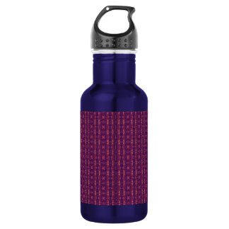 Purple and Orange Stripes Water Bottle