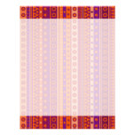 Purple and Orange Stripy Stars and Spots Pattern Letterhead Design