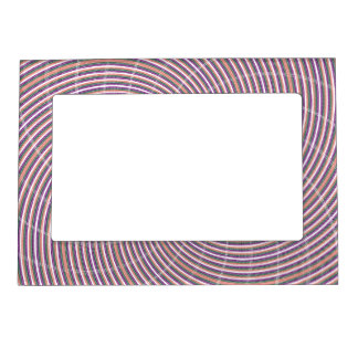Purple and Orange Swirl Magnetic Picture Frame