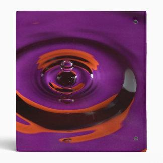 Purple and Orange Water Drop Binder