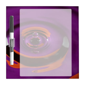 Purple and Orange Water Drop Dry Erase White Board