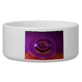 Purple and Orange Water Drop Pet Food Bowl
