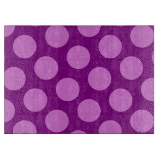 Purple and Orchid Polka Dots Cutting Board
