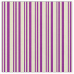 [ Thumbnail: Purple and Pale Goldenrod Colored Stripes Pattern Fabric ]