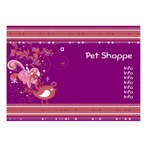 Purple and Pink Abstract Bird Business Card Templates
