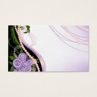Purple and Pink Beads Flowers Business Card