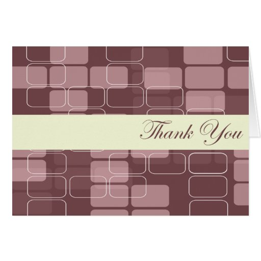 """Purple and Pink Block  """"Thank You"""" cards"""