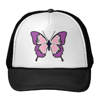 Purple and Pink Butterfly Trucker Hats
