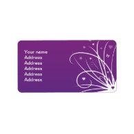 Purple and Pink Butterfly Swirl Custom Address Label