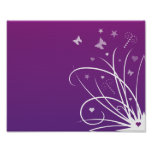 Purple and Pink Butterfly Swirl Poster