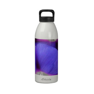 Purple and Pink Colored Morning Glory Flowers Reusable Water Bottle