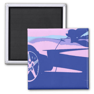 Purple and Pink Corvette Magnet