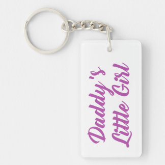 Purple and Pink Daddys Little Girl Keychain