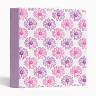 Purple and Pink Daisies Binder