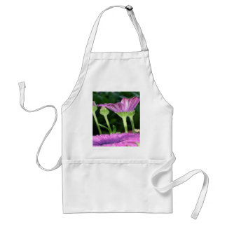 Purple And Pink Daisy Flower in Full Bloom Adult Apron