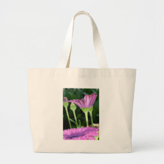 Purple And Pink Daisy Flower in Full Bloom Large Tote Bag