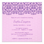 Purple and Pink Damask Lace Bridal Shower BR011F Personalized Invitation