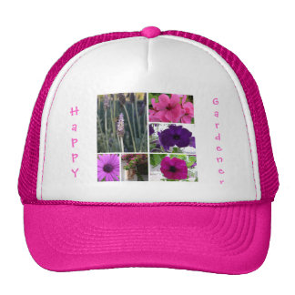 Purple and Pink Flowers Hat