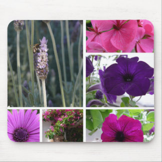 Purple and Pink Flowers Mouse Pad