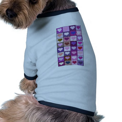 Purple and Pink Heart Squares Tee