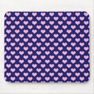 Purple And Pink Hearts Mouse Pad