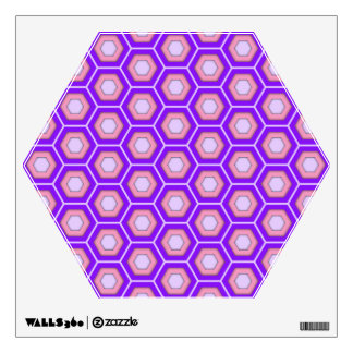 Purple and Pink Hex Tiled Wall Decal
