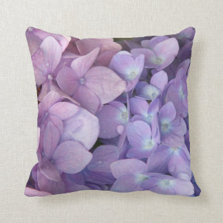 Purple and Pink Hydrangea Throw Pillow