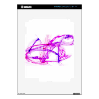 Purple and pink ink in water decal for iPad 3