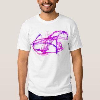 Purple and pink ink in water tee shirt