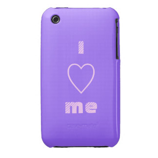 Purple and Pink iPhone 3 Case - I Heart Me