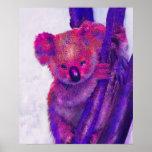 purple and pink koala print