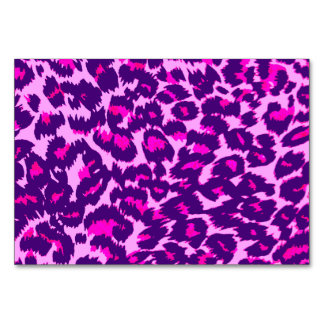 Purple and Pink Leopard Spots Card
