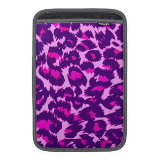 Purple and Pink Leopard Spots MacBook Sleeves