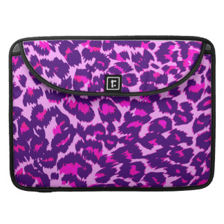 Purple and Pink Leopard Spots Sleeves For MacBook Pro