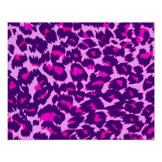 Purple and Pink Leopard Spots Posters