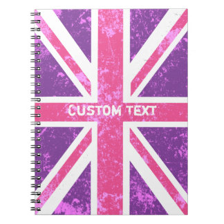 Purple and Pink London, British Flag Notebook