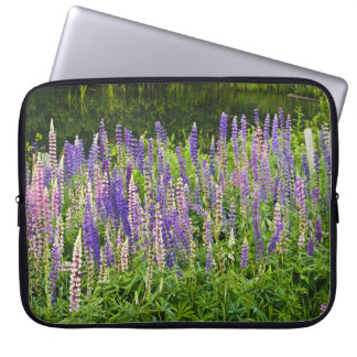 Purple and Pink Lupine Photograph Laptop Sleeve